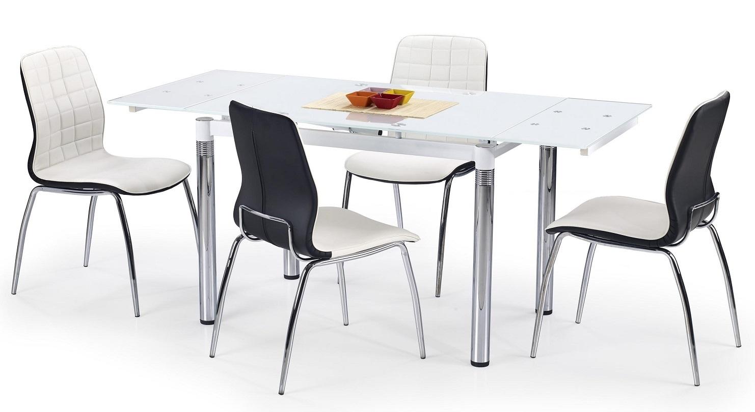 Uitschuifbare eettafel Sander 110 tot 170 cm breed in wit