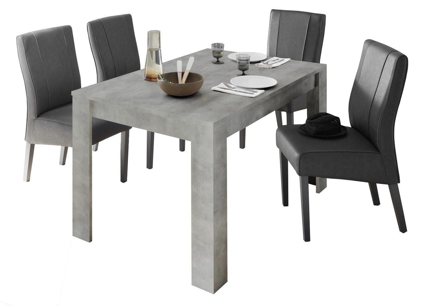 Uitschuifbare Eettafel Urbino 137 tot 185 cm breed in grijs beton