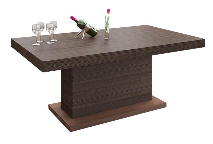 Uitschuifbare salontafel Matera Lux 120 tot 170 cm breed - wenge