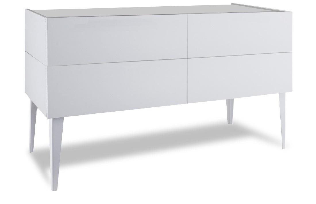 Commode Vespa 70 cm hoog - Mat Wit