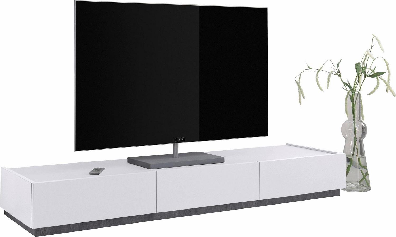 Tv meubel Vespa van 184 cm breed in mat wit