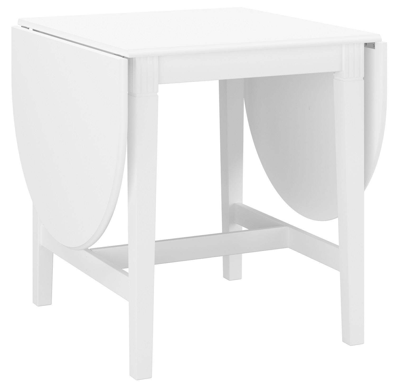 Vierkante klaptafel Venice 75 tot 166 cm breed in wit