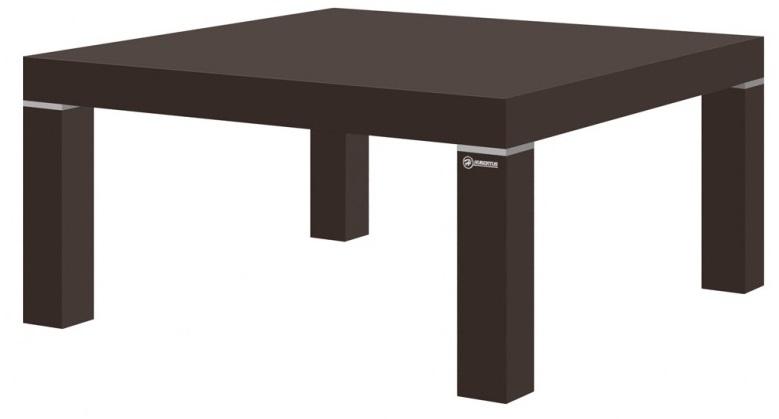 Vierkante Salontafel Kiwi 100x100 cm - Hoogglans Bruin