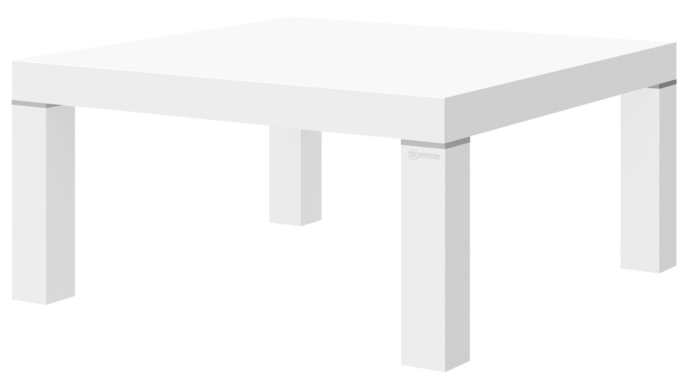 Vierkante Salontafel Kiwi 100x100 cm - Hoogglans Wit