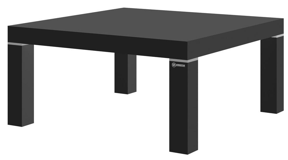 Vierkante Salontafel Kiwi 100x100 cm - Hoogglans Zwart