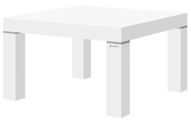 Hoogglans Vierkante Salontafel.Vierkante Salontafel Kiwi 80x80 Cm Hoogglans Wit Kopen