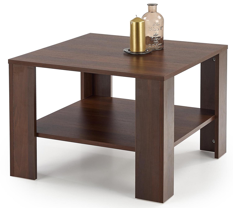 Vierkante salontafel Kwadro 70x53x70 cm breed in walnoot