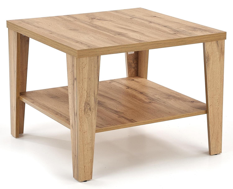 Vierkante salontafel Manta 70x54x70 cm breed in votan eiken