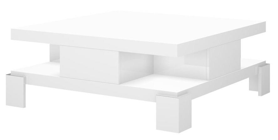 Vierkante Salontafel Selina 104x104cm - Hoogglans wit