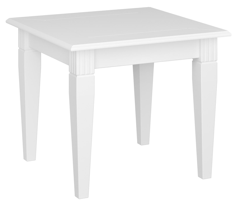 Vierkante salontafel Venice 60x52x60cm breed in wit