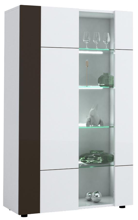 Buffetkast Karat 165 cm hoog Hoogglans wit met antraciet