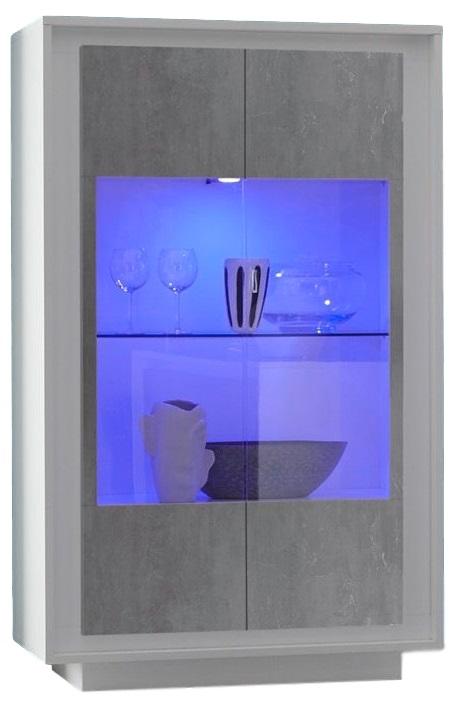 Buffetkast SKY 171 cm hoog in wit met grijs beton