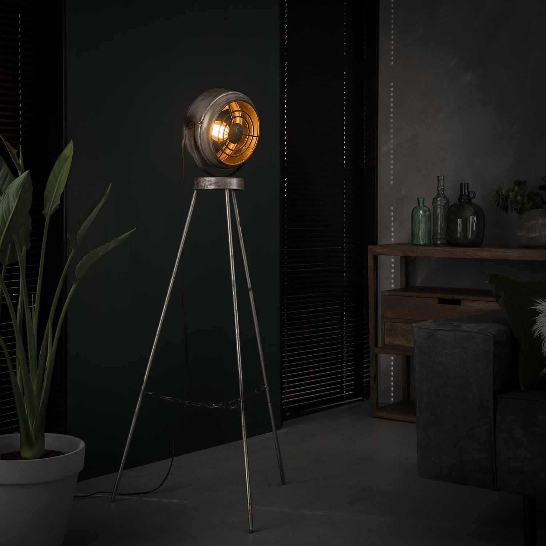 Vloerlamp Beam 133 cm hoog in oud zilver