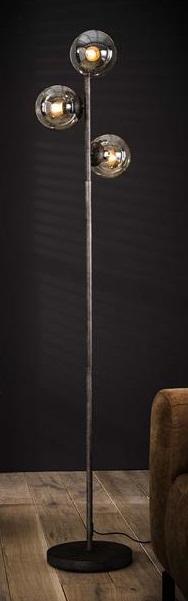 Vloerlamp Bolly 170 cm hoog - Oud zilver