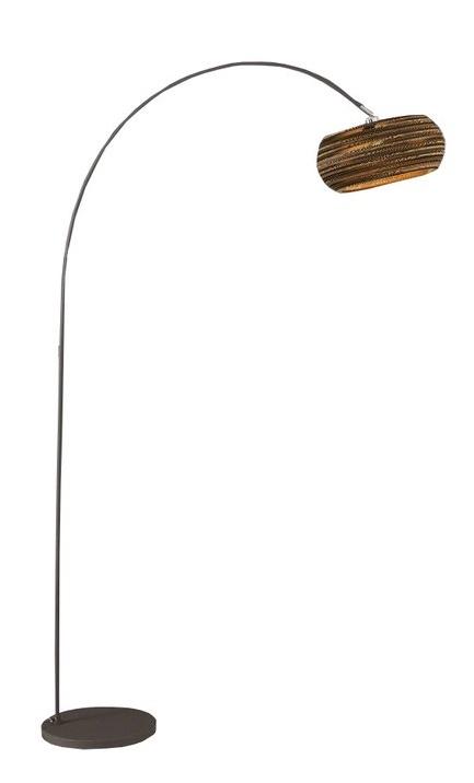 Vloerlamp boog Carta 200 cm hoog – Bruin