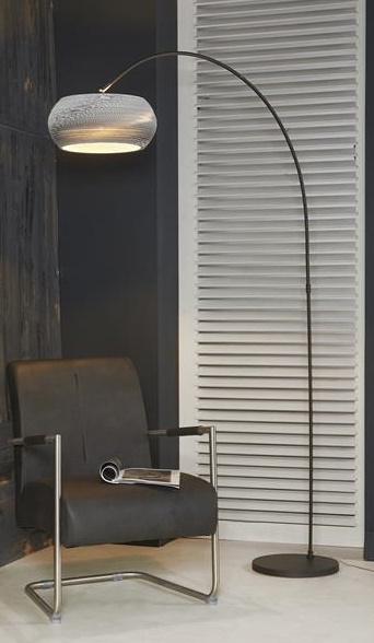 Vloerlamp boog Carta 200 cm hoog - Wit