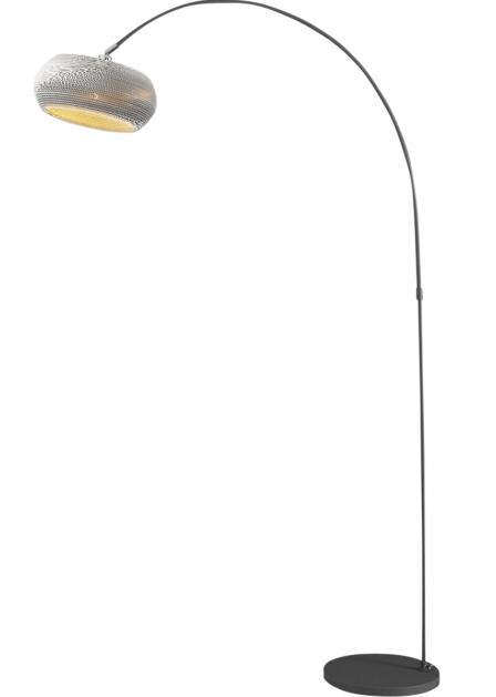 Vloerlamp boog Carta 200 cm hoog – Wit