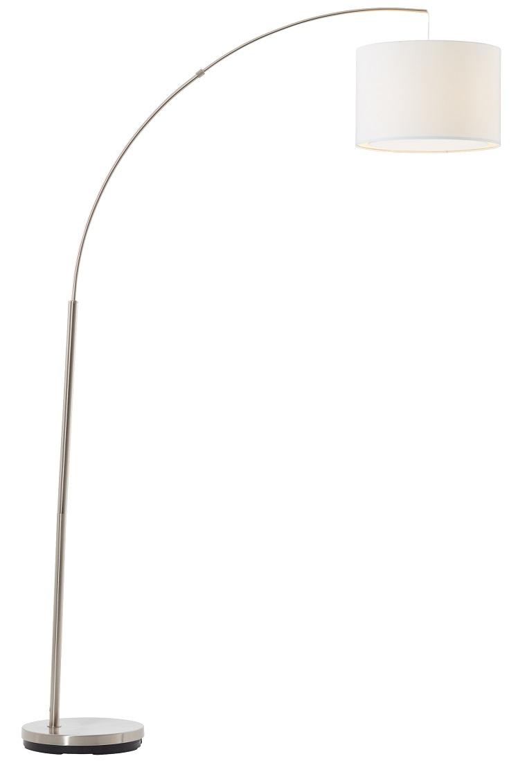Vloerlamp Charly 1xE27 max 60Watt in chroom met wit