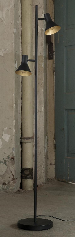 Vloerlamp Cup 143 cm hoog in zwart