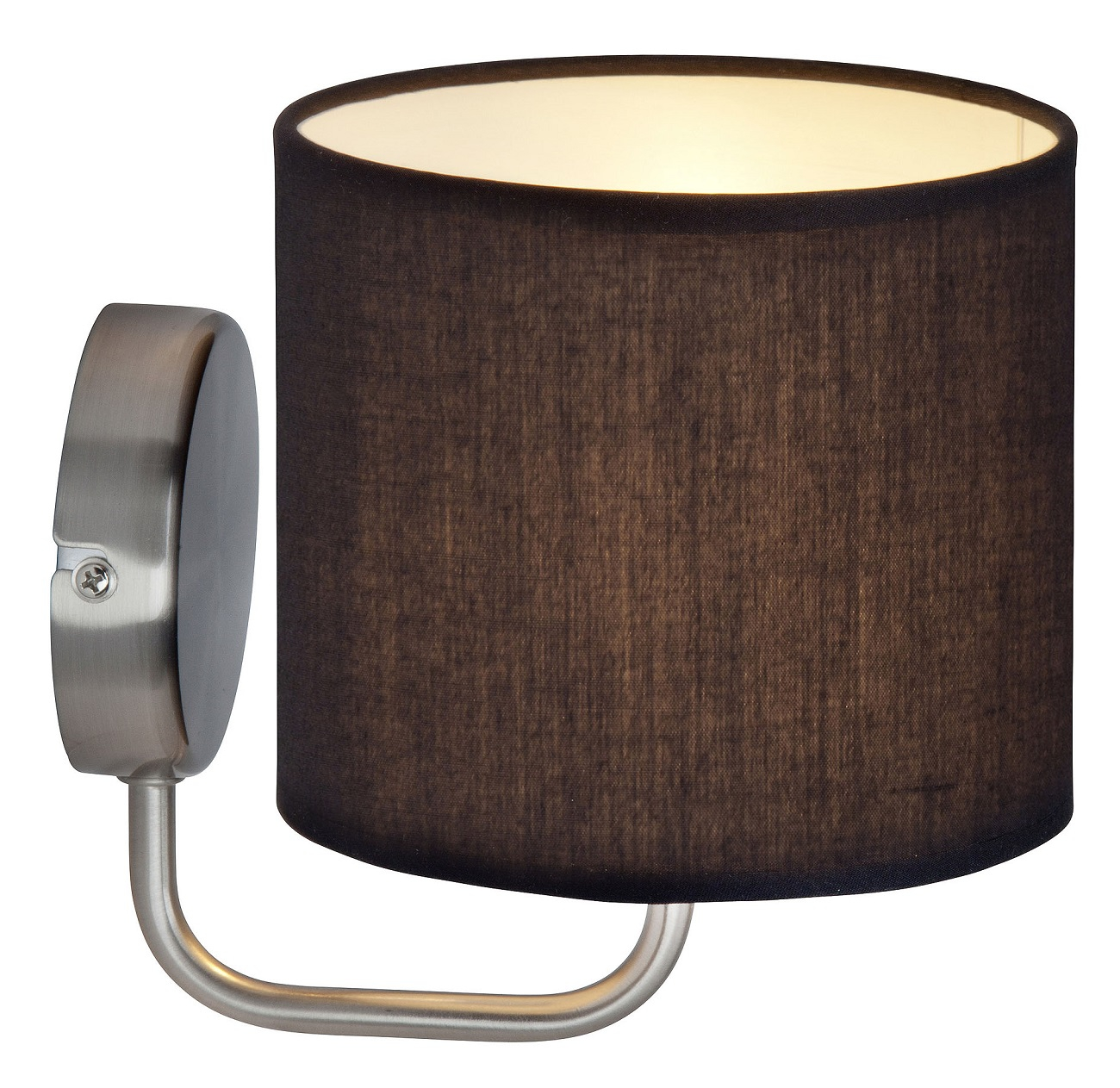 Wandlamp Ardanas 1xE14 max 40Watt in zwart