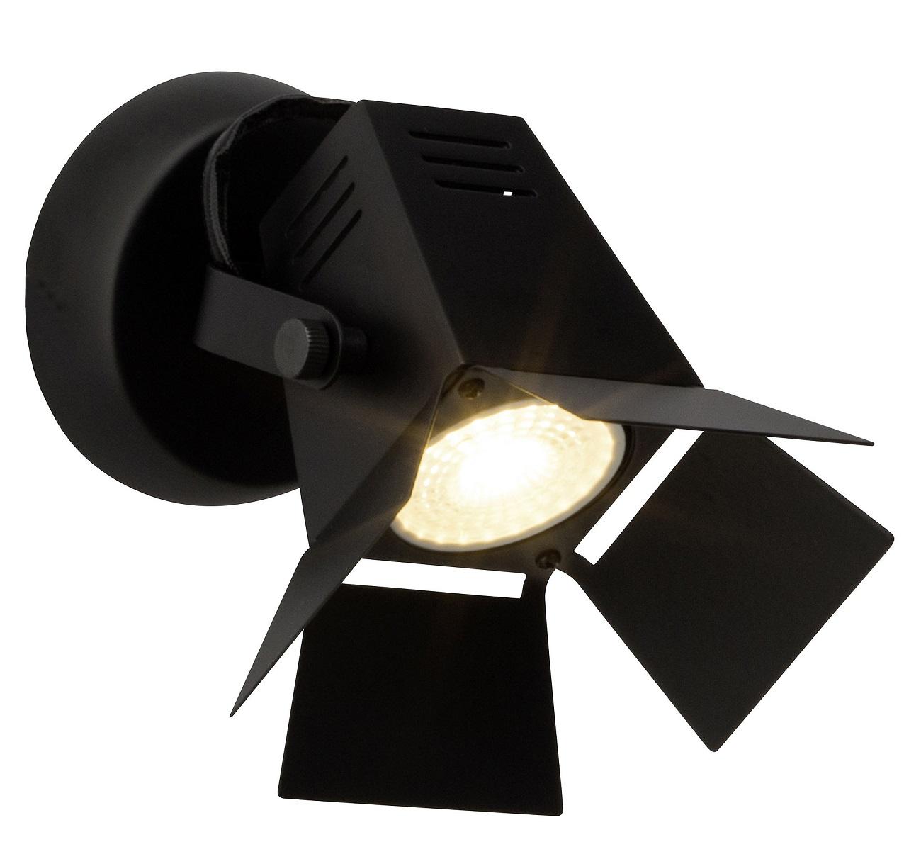 Wandlamp Move 1xGU10 max 5Watt in mat zwart