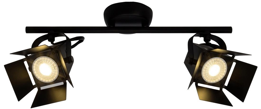 Plafondlamp Move 2xGU10 max 5Watt in mat zwart