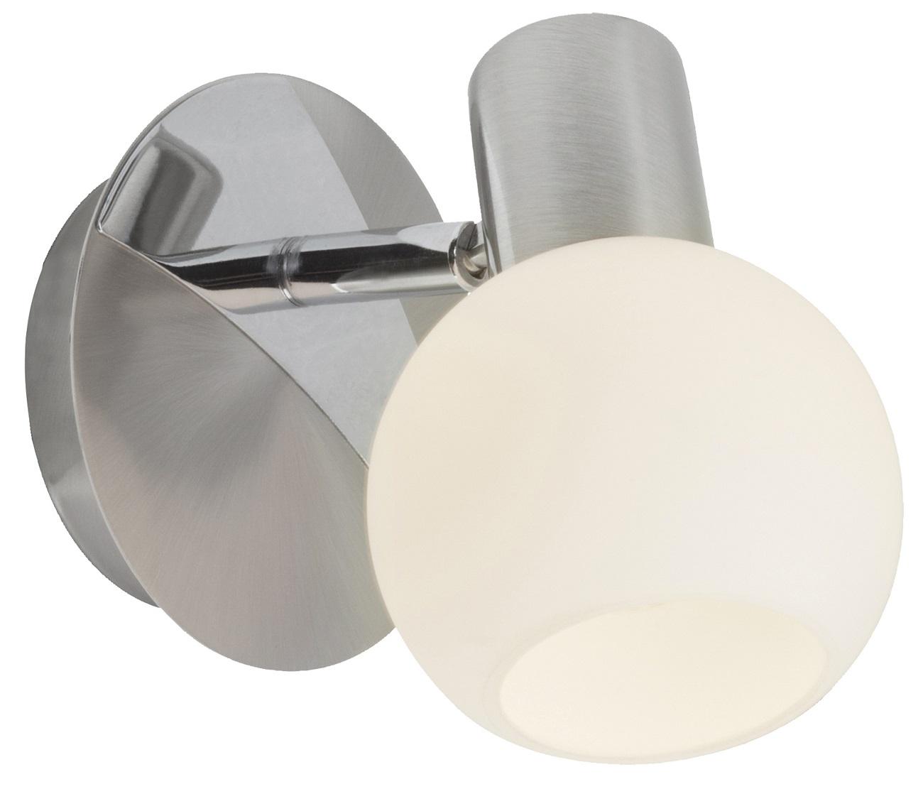 Wandlamp Tinna 1xE14 40Watt in chroom met wit