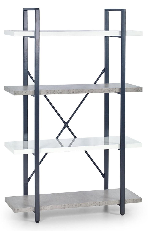 Wandrek Stunno 140 cm hoog in wit met grijs beton
