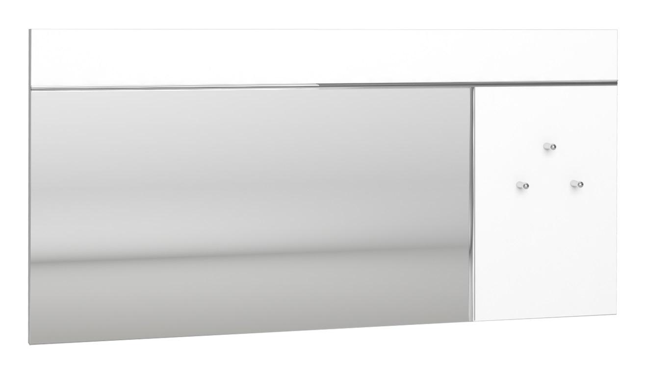 Wandspiegel Lice 120 cm breed in hoogglans wit