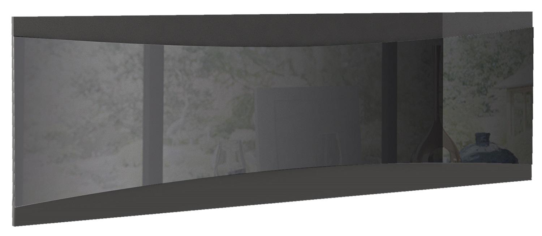 Wandspiegel Tiago 180 cm breed in hoogglans antraciet