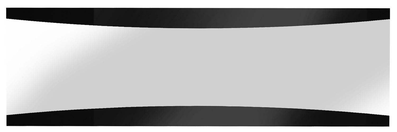 Wandspiegel Tiago 180 cm breed in hoogglans zwart