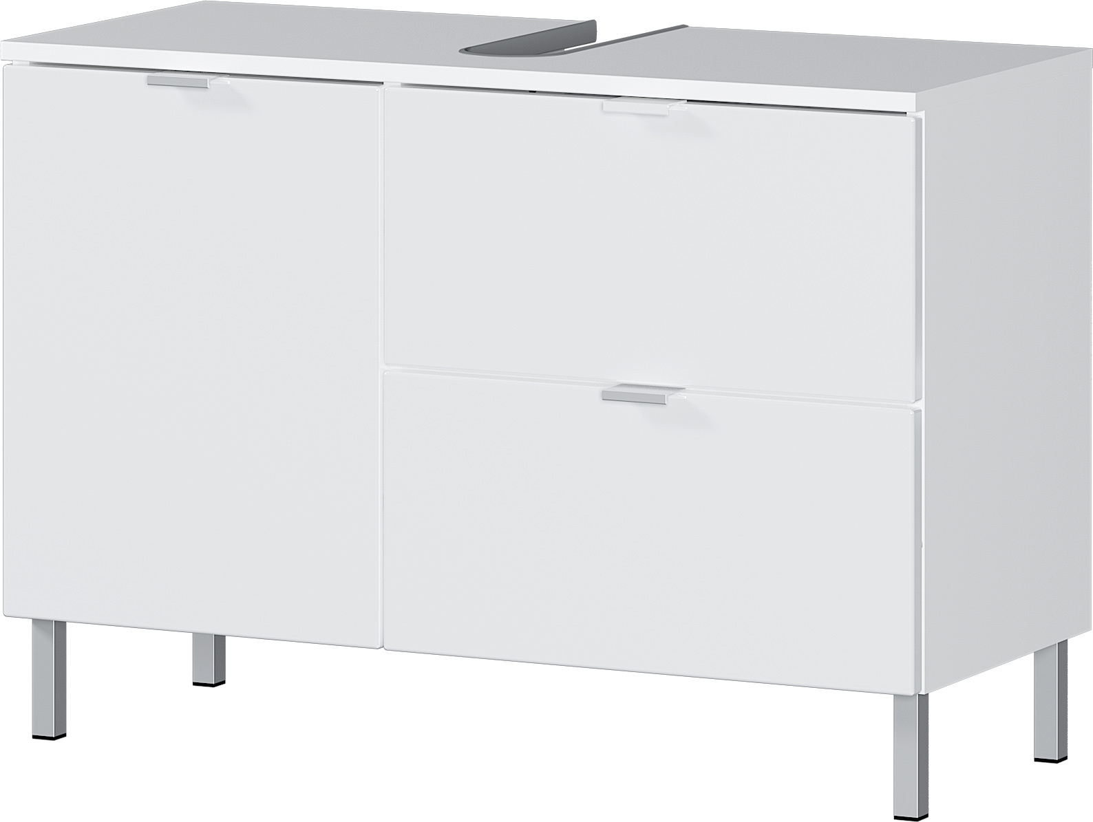 Wastafelonderkast Bruno L 56 cm hoog in wit