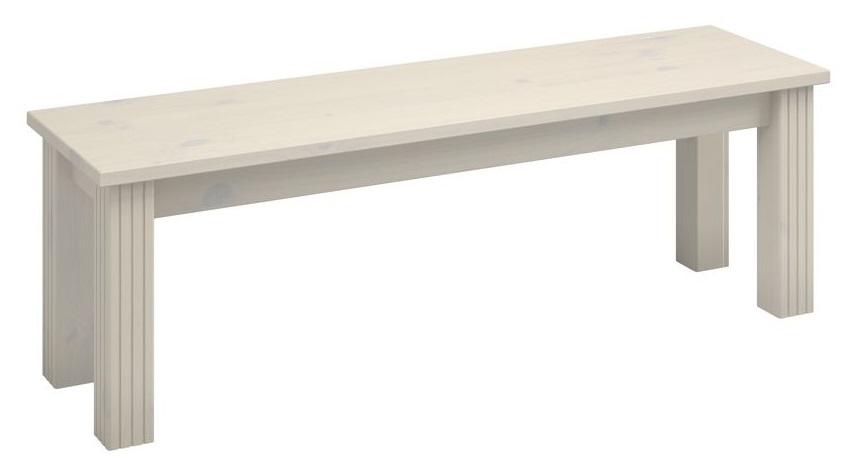 Zitbank Monaco 140 cm breed in wit whitewash