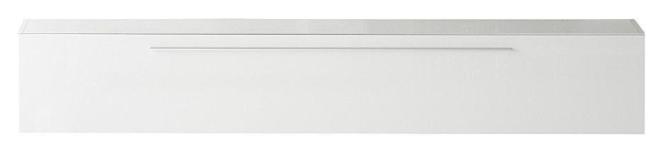 Zwevend Tv-meubel Mexy 210 cm breed - Hoogglans wit